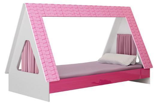 Cama Solteiro Gelius Cabaninha (branco/pink ploc)