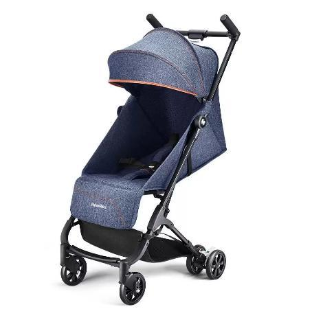 Carrinho P/Bebê Compacto Fisher-Price Nano BB549 (jeans)