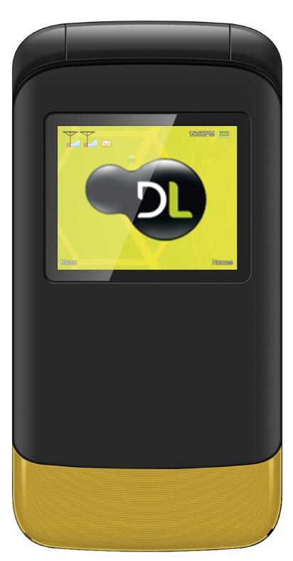 Celular Flip DL Dual YC-230 (Amarelo)