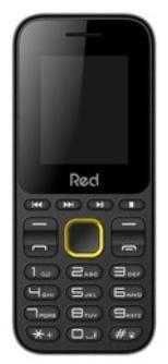 Celular Red Mobili Fit Music M011F (Preto/Amarelo)