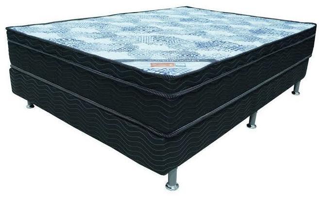 Conjunto Box Casal Mola Ortobom Iso Superpocket (138x188x55cm) (Estampado Grafite)