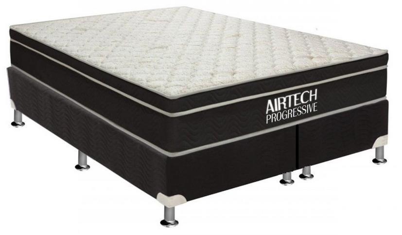 Conjunto Box Queen Mola Ortobom Airtech Progressive (158x198x59cm) (Preto)