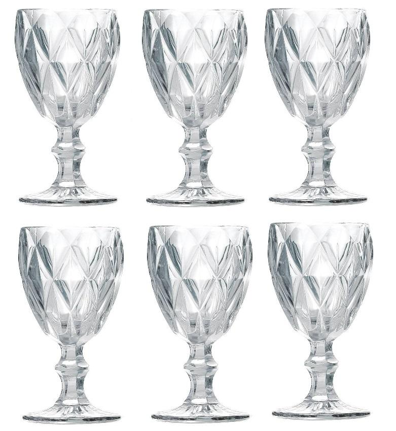 Cj Taça P/Vinho 06 Pcs Lyor Diamond 6472 (transparente)