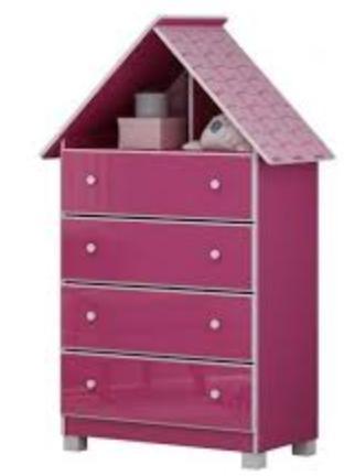 Comoda Infantil Gelius Casinha (pink ploc)