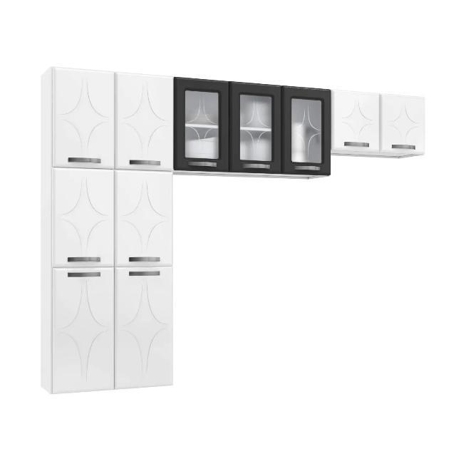 Cozinha Montada TelaSul Rubi 811403 (branco/preto)