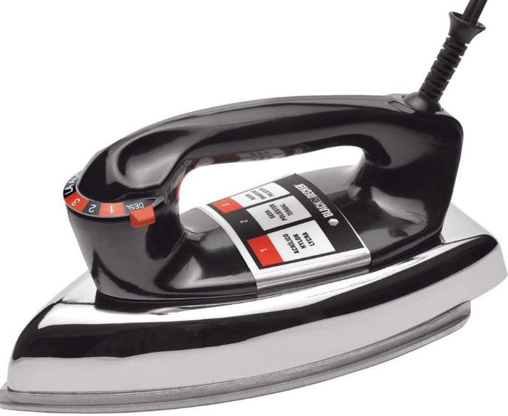 Ferro a Seco Black & Decker VFA-1110TM2 (preto)