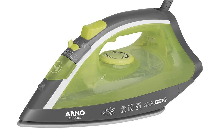 Ferro a Vapor C/Spray Arno Ecog FEC1/FV1741B3 (preto/verde)