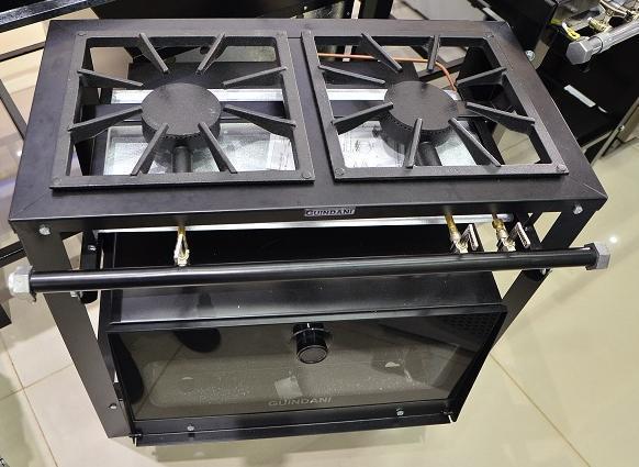 Fogão 2Q Semi-Industrial Guindani GS-20/F (com forno)