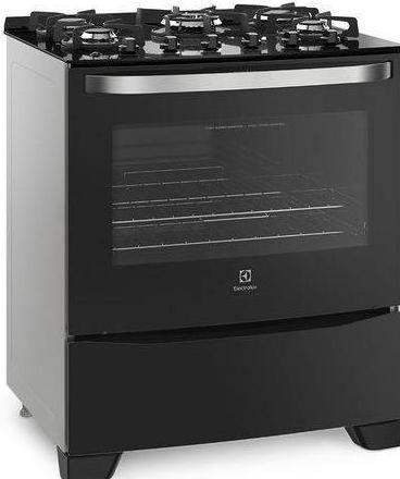 Fogao 5Q Electrolux 76GS (prata/preto)