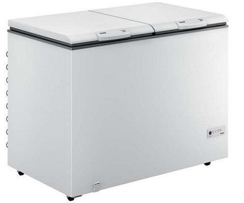 Freezer Horizontal 02 Tampas 414L Consul CHB42EBANA (branco)