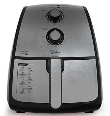 Fritadeira Eletrica Sem Oléo 4L Midea FXA41 (preto/inox)