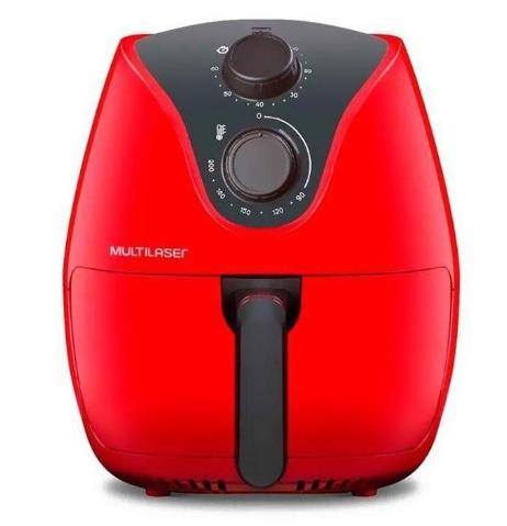 Fritadeira Elétrica Sem Óleo 4L Multilaser Air Fryer CE083 (vermelho)
