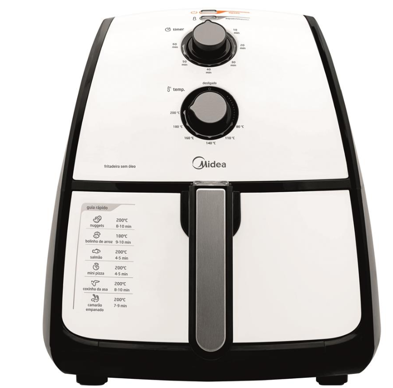 Fritadeira Eletrica Sem Oleo Midea Liva FRA41 (branco/preto)
