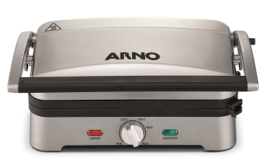 Grill Eletríco Arno Premium GPRE/SW3300DB1 (prata)