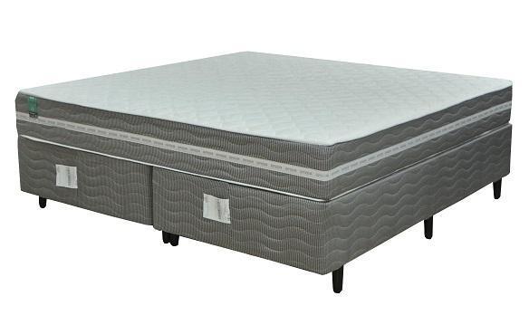 Cojunto Box King Mola Flex Epeda Essencial (193X203X57CM) (Branco Cinza)