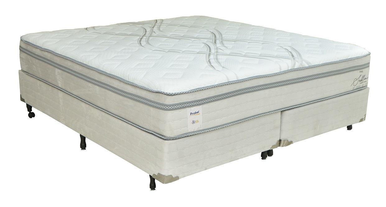 Conjunto Box King Mola Probel Sublime (193x203x60cm) (Cinza/Branco)