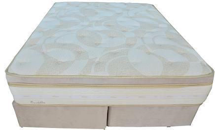 Conjunto Box Queen Mola Herval Eruditto (158x198x64cm) (Bege Veludo)
