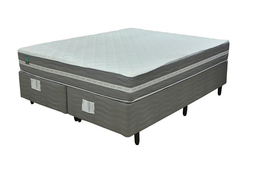 Conjunto Box Queen Mola Flex Epeda Essencial (158x198x57cm) (Branco Cinza)