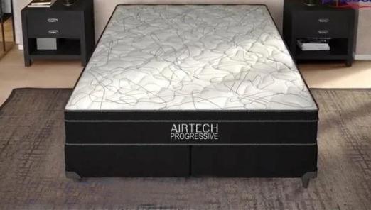 Conjunto Box Queen Mola Ortobom Airtech Progressive (158x198x52cm (Preto)