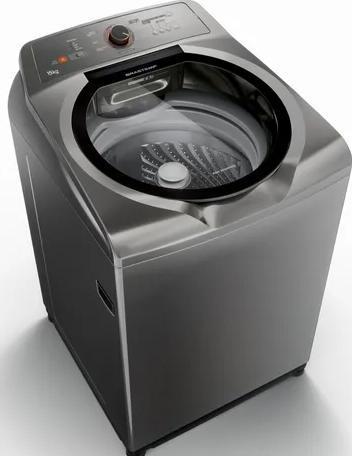 Lavadora de Roupa Automatica 15KG Brastemp BWN15ATANA (titanium)