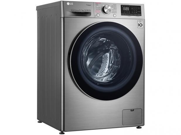 Lavadora e Secadora de Roupa Automatica 11KG LG CV5011TS4 (aco escovado)