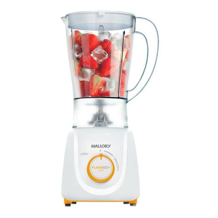 Liquidificador 02 Velocidades Mallory Flash Mix B91201741 (branco/laranja)