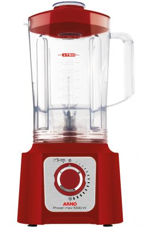 Liquidificador 15 Velocidades Arno Power Max 1000 LN54 (vermelho)