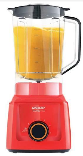 Liquidificador 4V Mallory Taurus 1000 B91202301 (900w) (vermelho)