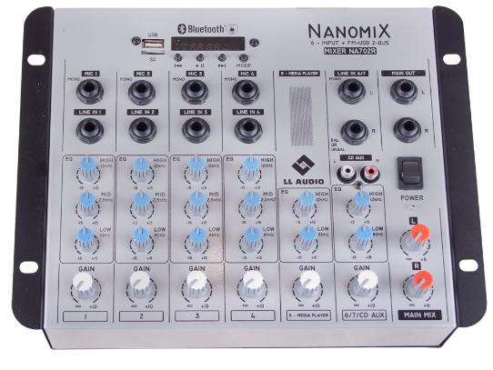 Mesa De Som 06 Canais ll Áudio Nanomix NA-702R-BT