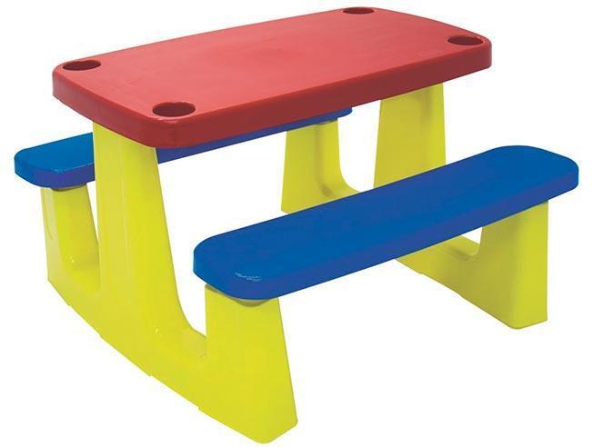 Mesa Plastica Tramontina Pic-Nic 92360/000 (vermelho/azul/verde)