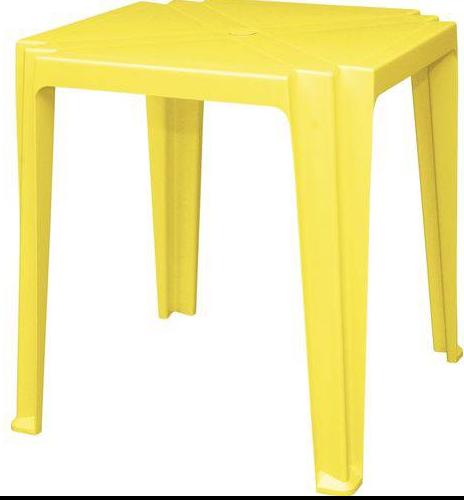 Mesa Quadrada Plastica Tramontina Tambau 92314/000 (amarelo)