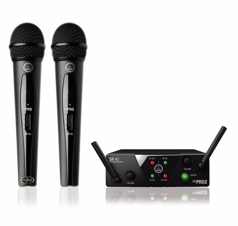 Microfone Sem Fio Selenium AKG Vocal Wireless System WMS40MINI Dual