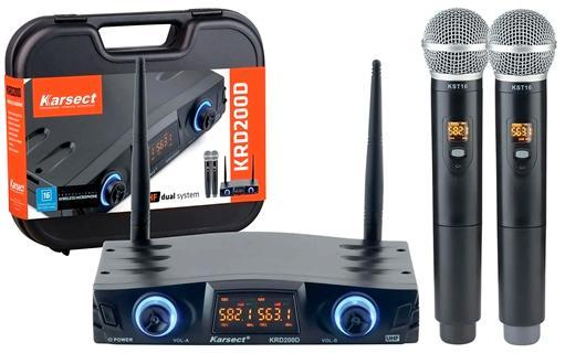 Microfone Sem Fio Sonotec Karsect KRD200DM (2 microfones)