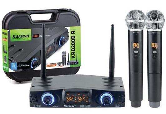 Microfone Sem Fio Sonotec Karsect KRD200DR