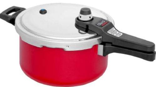 Panela de Pressao FE Antiaderente 4,5L Nigro Eterna 097179 (vermelho)