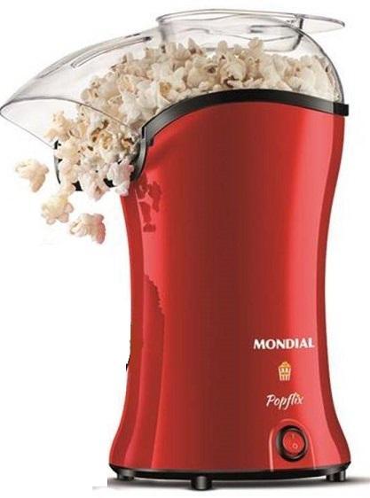 Pipoqueira Elétrica Sem Óleo Mondial Pop Flix PP-03/9075-01 (vermelho)