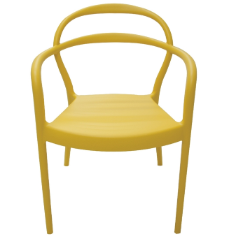 Poltrona Plastica Tramontina Sissi 92045/000 (amarelo)