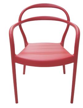 Poltrona Plástica Tramontina Sissi 92045/040 (vermelho)