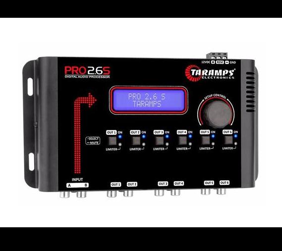 Processador de Audio Digital Taramps Pro 2.6s 06 Canais (Padrão)