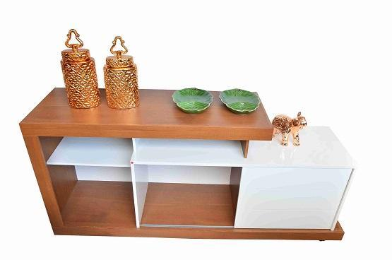 Rack DJ Moveis Porto 8105150 (rustico terrara off white)