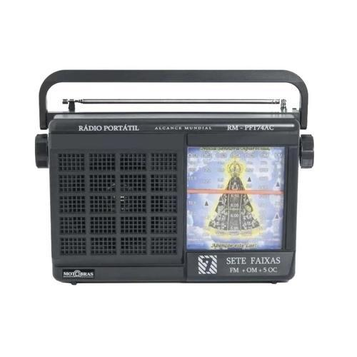 Rádio Portatil 07 Faixas Motobras RM-PFT74AC (preto)