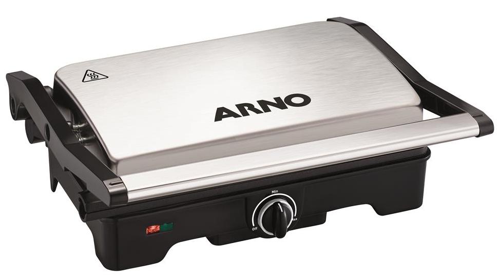 Sanduicheira e Grill Arno Compact Dual Inox GNOX/SW332DB0 (Inox)