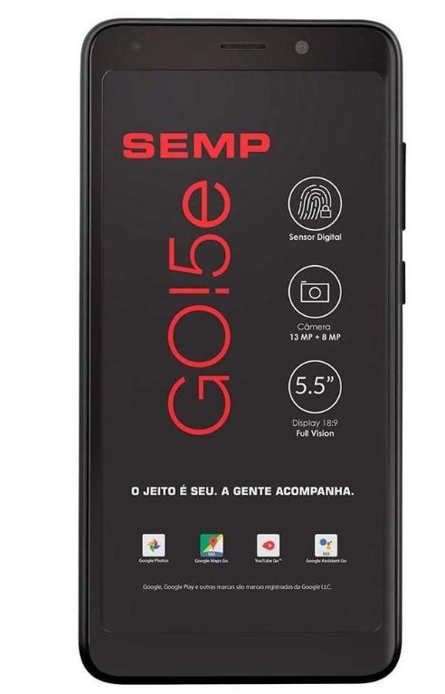 Smartphone Semp Go 5E Dual 16GB (Preto)