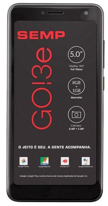Smartphone Semp TCL GO 5C Dual 16GB (Preto)