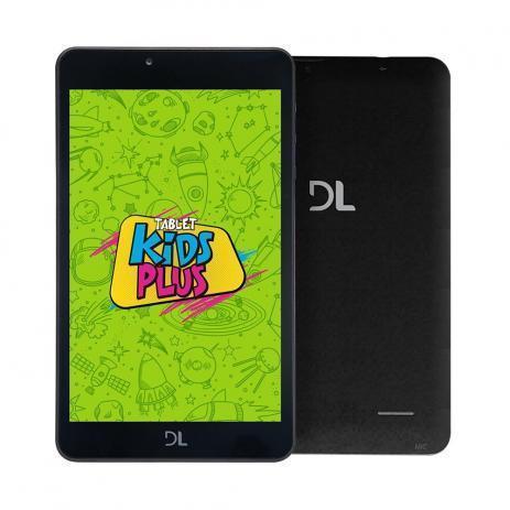 Tablet DL Kids Plus TX398PCA (preto/capa azul)