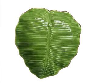 Travessa Lyor Folha Banana Leaf 4496 (verde)