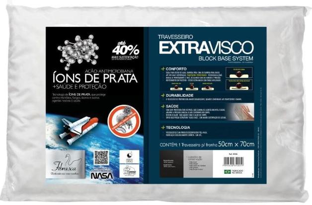 Travesseiro Fibrasca Extravisco 4005