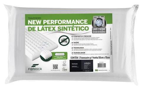Travesseiro Fibrasca Latex Lavavel 4604