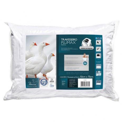 Travesseiro Fibrasca Plumax Percal 4235
