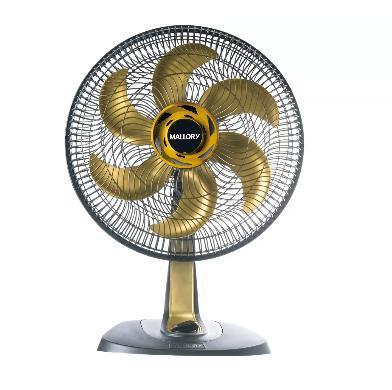 Ventilador De Mesa 40CM Mallory TS40+ B94401181 (preto/dourado)